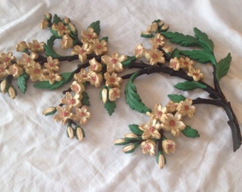 Vintage 1967 Dogwood Wall Hanging