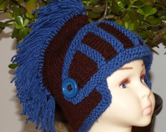 knitted sir knight hat, knitted knight helmet, acrylic, helmet, hat, costume sir knight, winter hat, knitted head dress