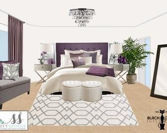 Glam Bedroom Online Interior Design Package