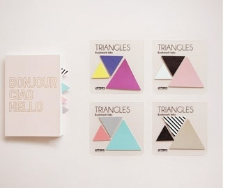 Sticky Note [ Triangles ] / Bookmark / Index Sticky Note / Note pad / Memo pad