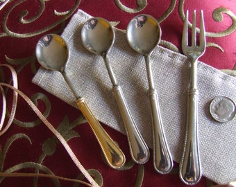 Coffee spoons in silver vintage - 1970