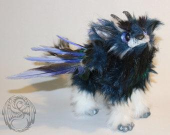 SALE! Periwinkle - OOAK handmade Poseable ArtDoll - Last Kyrin Pup