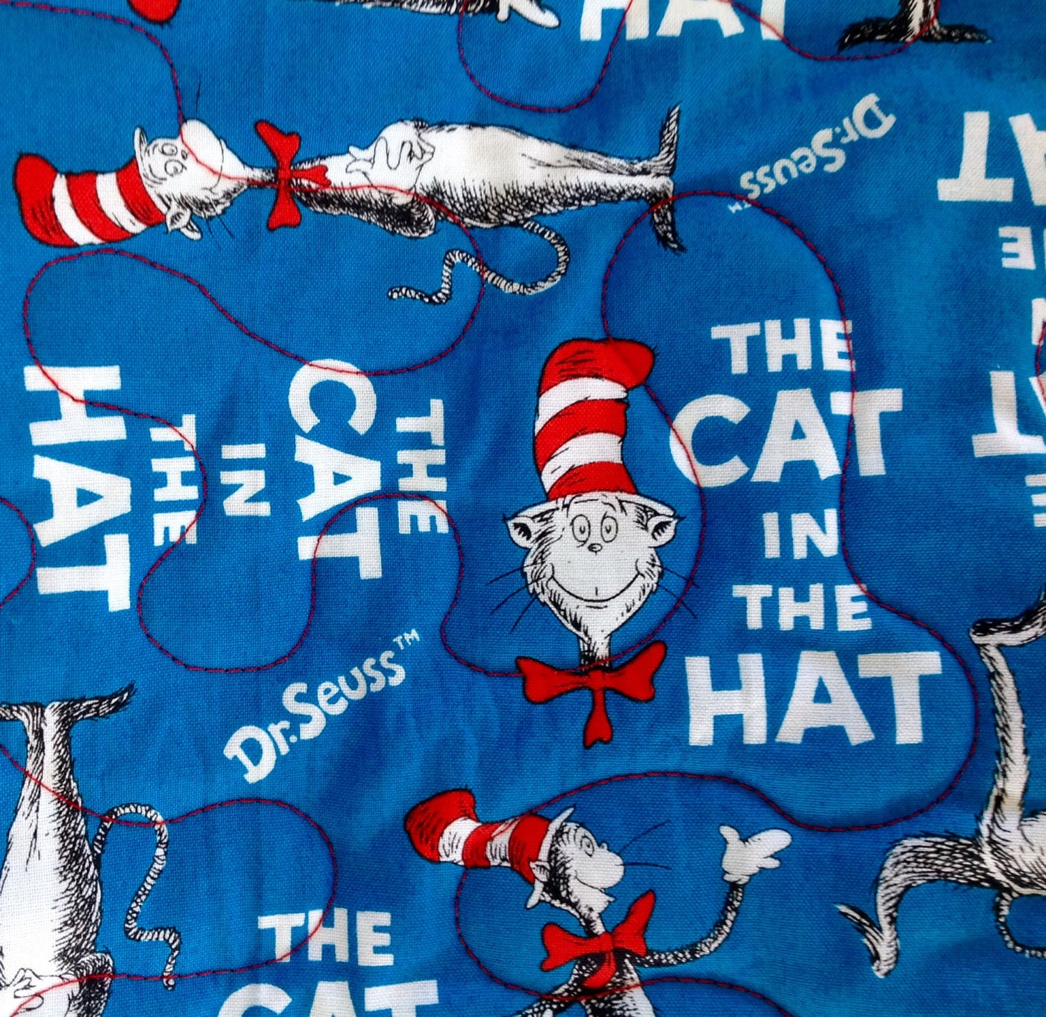 Cat In The Hat Characters: Dr. Seuss Cat In The Hat Reversible Characters Pieced Throw
