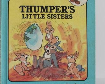 Vintage Disney Thumper's Little Sisters Book - Bunnies Rabbits Bantam Bambi