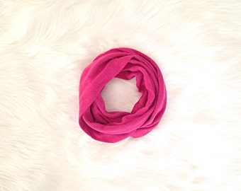 SALE! Baby Infinity Scarf - Solid Fuchsia Pink - READY to SHIP