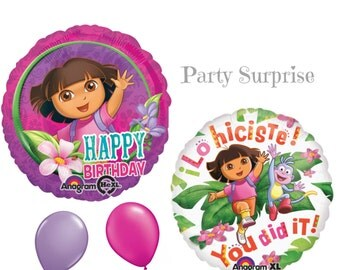 Dora Party Balloons Dora the Explorer Birthday Party Girl Party You Did It Decorations Balloons
