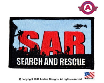 Search and Rescue Land and Air iron on Patch NEW Made in USA!