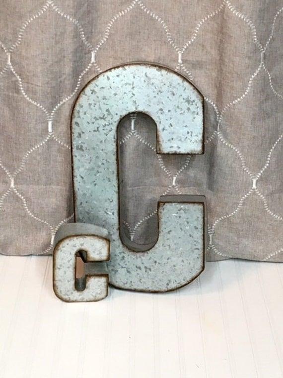Large Metal Letter C Metal Letterlarge Metal Letter C Galvanized Letter