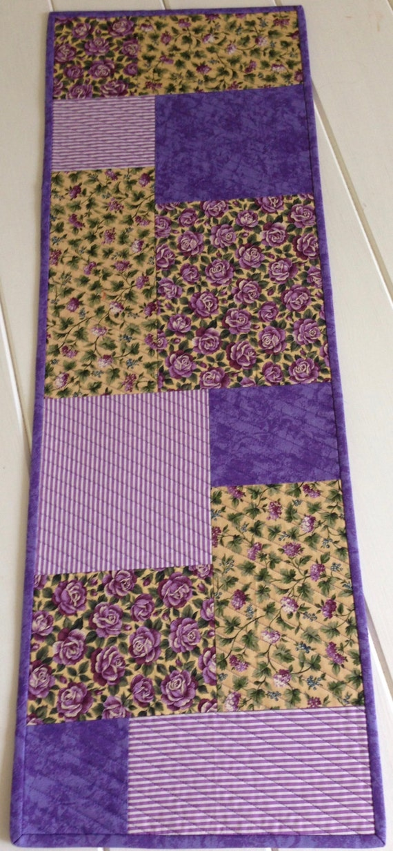 Spring Floral Fabric Quilted Table Runner By Lawsoncreations