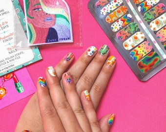 Psychedelic Nail Art Decal Strips, Limited Edition Collaboration