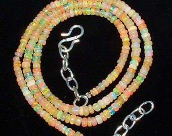 Natural Ethiopian Welo Opal Necklace!  100% Earthmined.