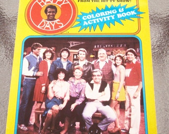 Vintage 1983 HAPPY DAYS Coloring & Activity Book TV Show - Unused