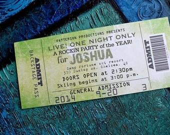 Concert Ticket Invitation