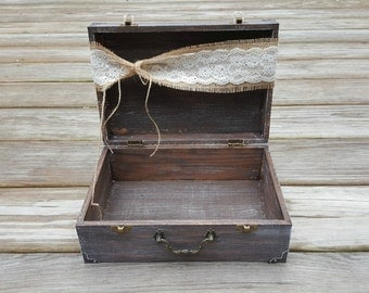 Rustic Wedding Card Box, Vintage Wedding Box, Rustic Wedding Decor, Shower Card Box, Wedding Advice Box, Memory Box, Reception Card Holder,