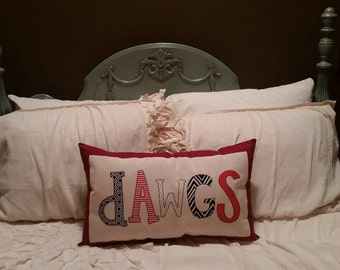 Made to Order - Georgia Bulldogs Applique Decorative Pillow