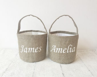 Personalized easter basket personalized burlap easter basket easter basket for girl  easter white basket easter basket white easter
