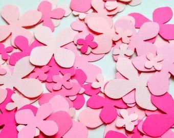 Paper pink Hydrangea, 3 size die cut Hydrangea, die cuts, wedding decorations, scrapbooking, weddings, confetti (300 cuts)