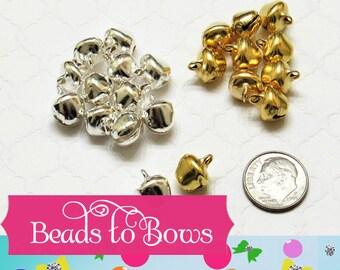 10mm Silver Bells, Christmas Bells That Jingle, Jinglebells Silver 'n Gold Christmas Jingle Bells, Silver Bells Gold Bells Size
