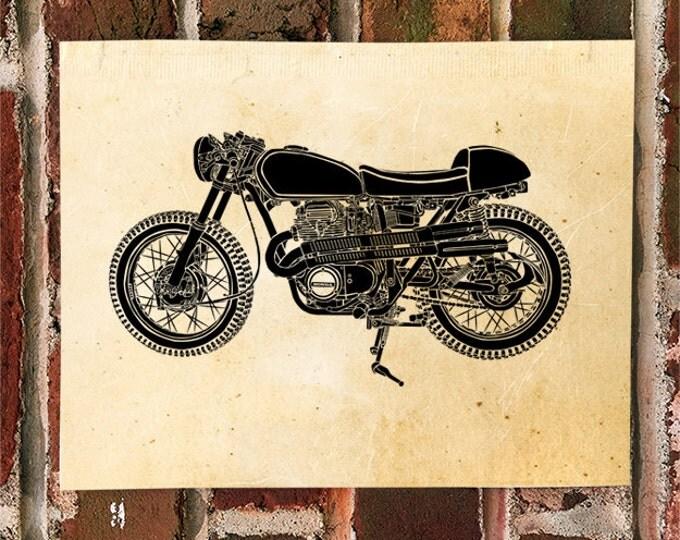 KillerBeeMoto: Limited Print Vintage Japanese Engineered Custom Cafe Racer Scrambler 1 of 50