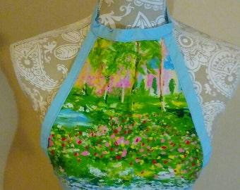FESTIVAL FASHION SUMMER Top - Monet Print- Free Shipping - Small