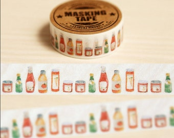 Bottles washi Tape--Japanese Washi tape--20mm x 10M