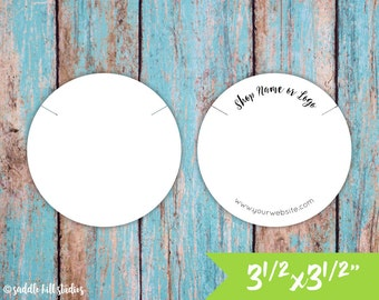 "Necklace Cards | 3 1/2 x 3 1/2"" Circle 