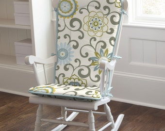 Spa Pom Pon Play Rocking Chair Pad by Carousel Designs