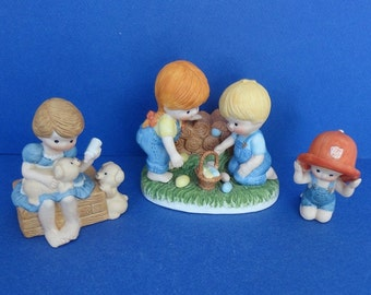 1980's Country Cousins Enesco Assorted Set of 3 Figurines