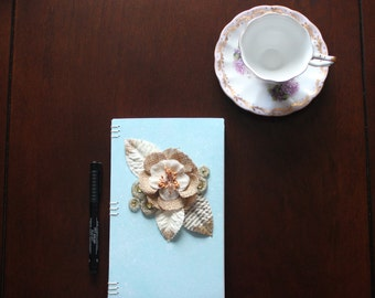 One of a Kind Shabby-Chic Coptic-Stitch Journal
