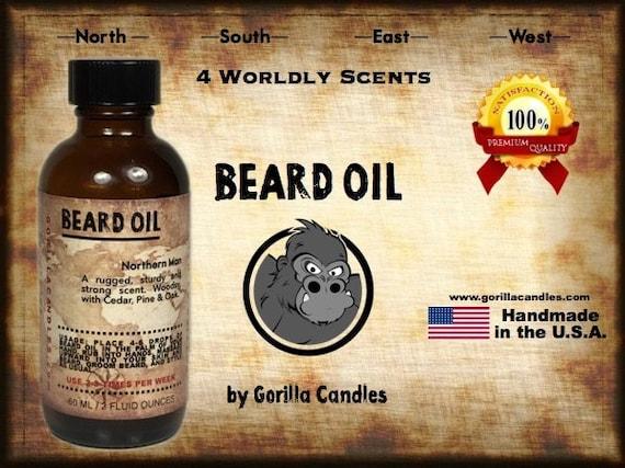 Beard Oil 2 Ounce - Eastern Man, Oriental influences, woody with exotic spice, cinnamon, jasmine, honey  Promotes Healthy Skin and Hair