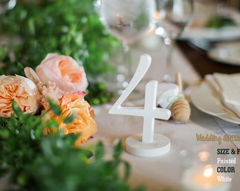Table Numbers, SET 1/15, White Table Numbers, Glitter Table Numbers, Silver Table Numbers