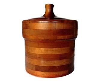 SALE! Baribocraft Ice Bucket, Bent Wood, Mid Century Ice Bucket, Made in Canada