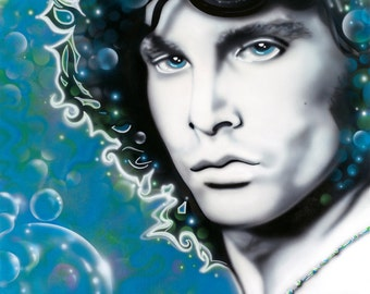 JIM MORRISON of the Doors, celebrity portrait painting by Artist Alicia Hayes