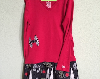 Tshirt dress Girls' Size 6 - Star Wars and sparkle!
