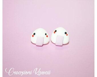 Onigiri Polymer Clay Stu Earrings
