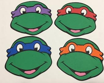 Set of 4 - Ninja Turtle Cutouts
