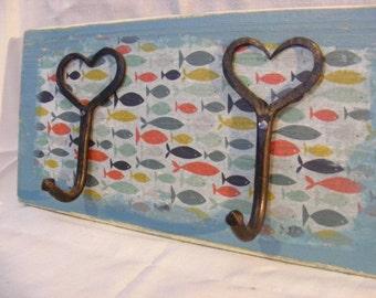 2 hook fish coat hanger