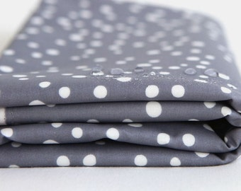Laminated Cotton Fabric Bubble Grey By The Yard