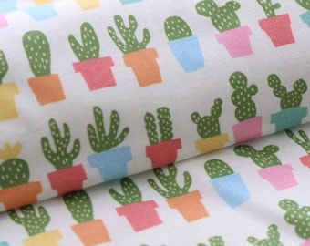 Cotton Fabric Cactus By The Yard