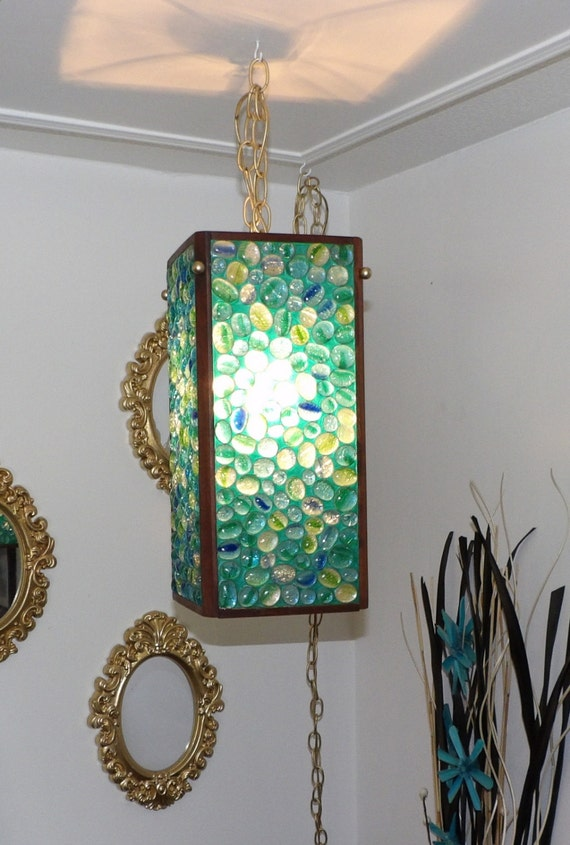 Mid Century Modern Swag Light Lamp Vintage By