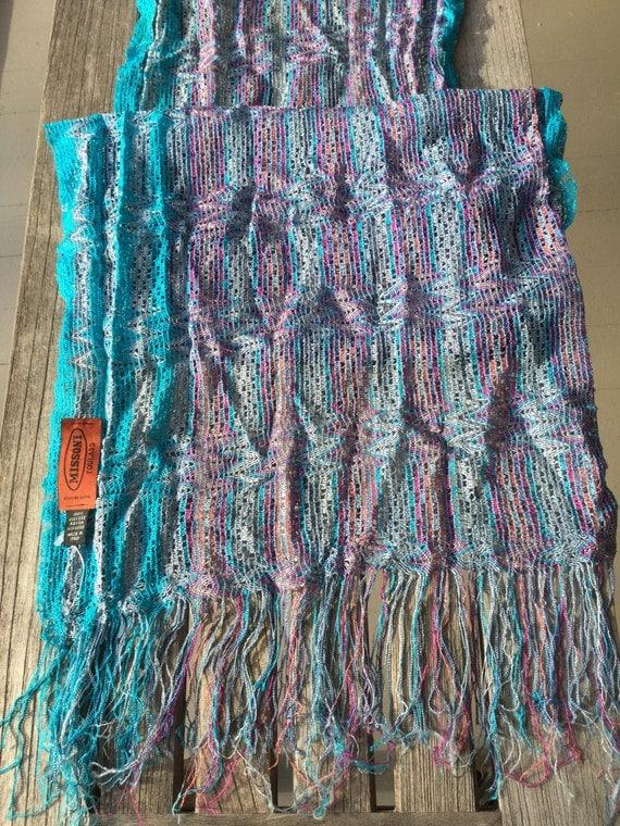 Knitting Pattern Light Scarf : Missoni Knit Light Scarf