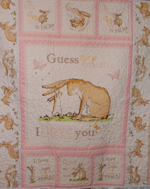 Baby Girl Cot Quilt Australian Fabric Guess How Much I