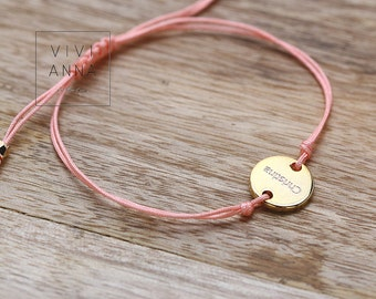 Pink Dream - braided bracelet with name A099