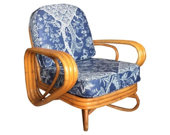 Vintage Rattan Club Chair