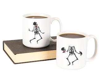 Dancing Skeletons Large 20 oz. Coffee Mug Set