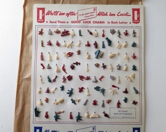Vintage WWII Celluloid Good Luck Charms