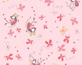 Butterfly Dance - Butterflies and Fairies on Pink - Cinderberry Stitches