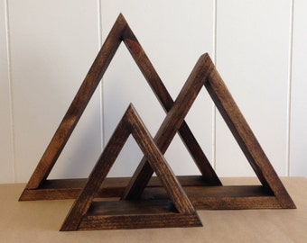 Triangle Shelves (Set of 3)