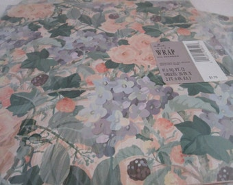 3 Packs of NOS Hallmark All Occasion Unopened Floral Gift Wrap Gift Paper Hallmark Wrapping Paper Gift Wrapping floral gift paper