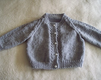 Knitted Mock Cable Cardigan